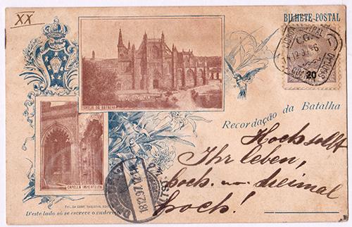 Postal antigo da Batalha