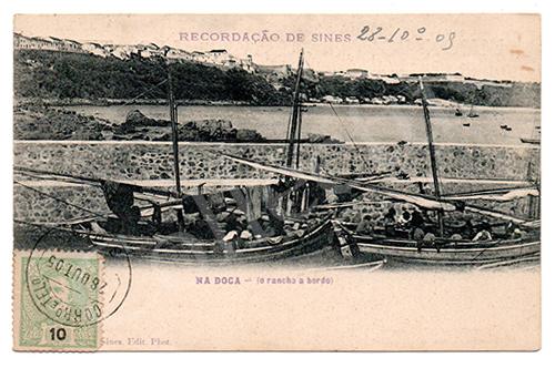 Postal antigo de Sines