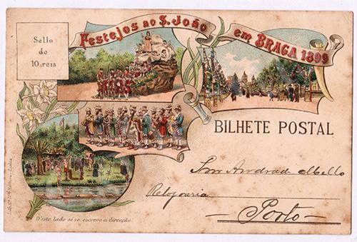 Postal antigo de Braga