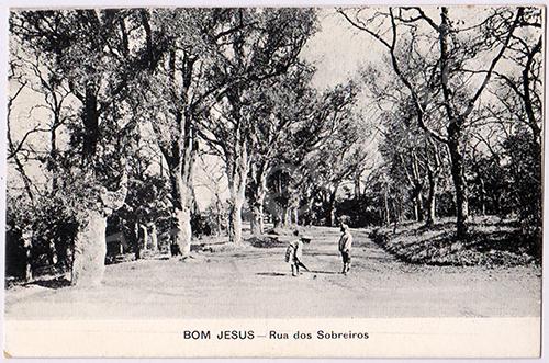 Postal antigo de Braga - Bom Jesus do Monte