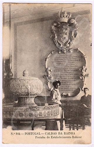Postal antigo das Caldas da Rainha