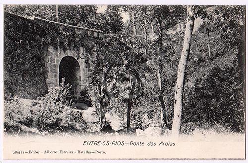 Postal antigo de Entre-os-Rios
