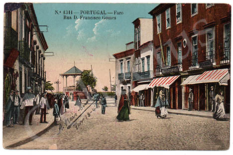 Postal antigo de Faro