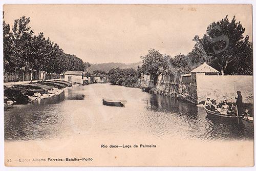 Postal antigo de Leça da Palmeira