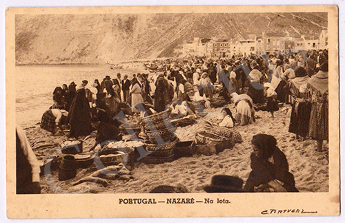 Postal antigo da Nazaré