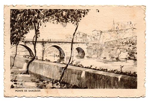 Postal antigo de Barcelos