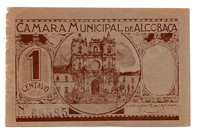 Cédula antiga de Alcobaça
