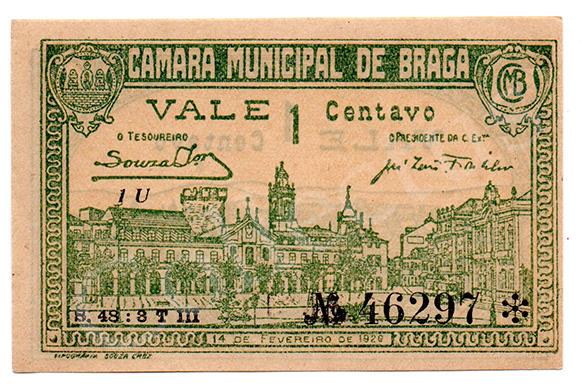 Cédula antiga de Braga