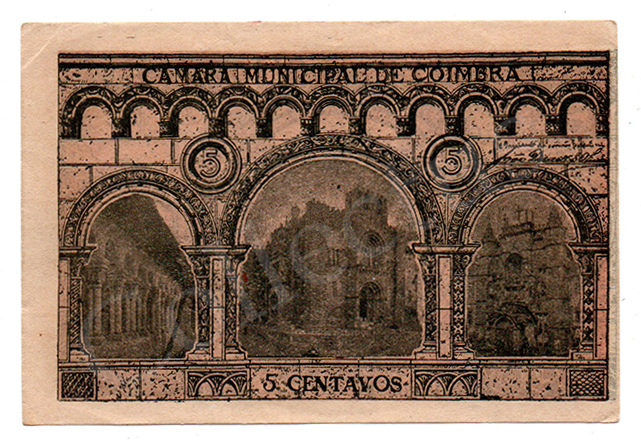Cédula antiga de Coimbra