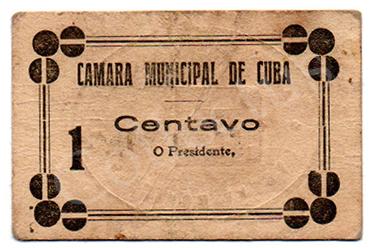 Cédula antiga de Cuba