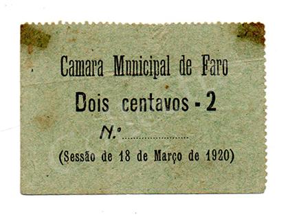 Cédula antiga de Faro