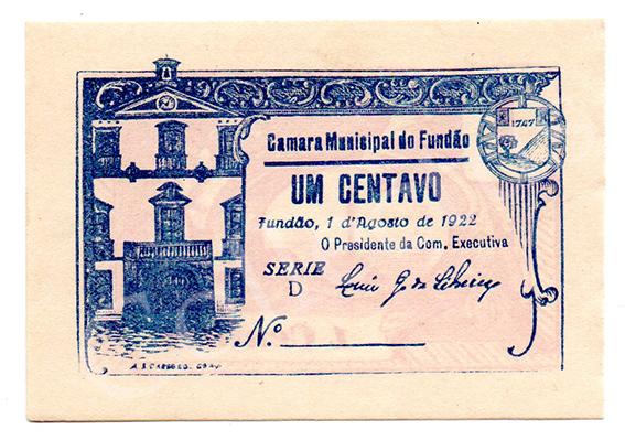 Cédula antiga do Fundão