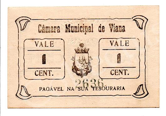 Cédula antiga de Viana do Castelo