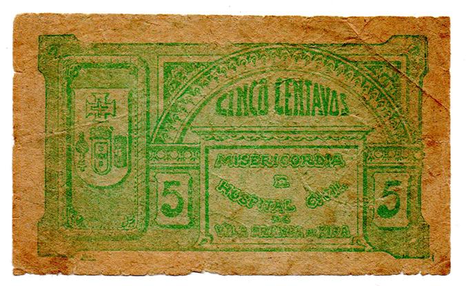 Cédula antiga de Vila Franca de Xira