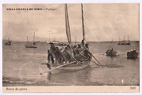 Postal antigo de Vila Franca de Xira