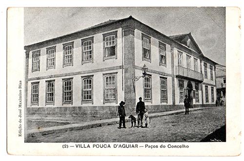 Postal antigo de Vila Pouca de Aguiar