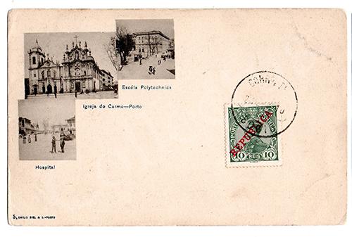 Postal antigo do Porto. Edição Emílio Biel
