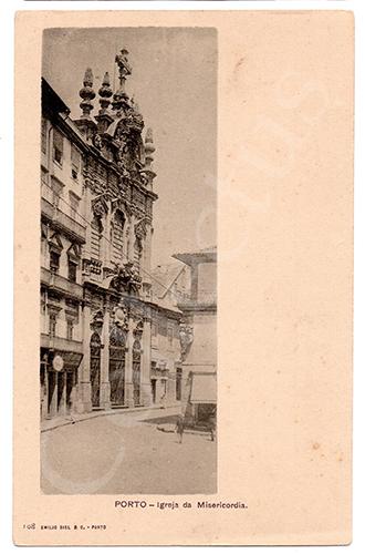 Postal antigo do Porto - Guindaes. Edição Emílio Biel