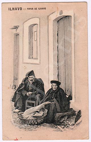 Postal antigo de costumes de Ílhavo