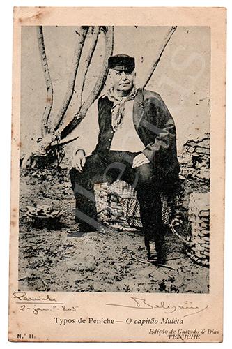 Postal antigo de costumes - os tipos de Peniche