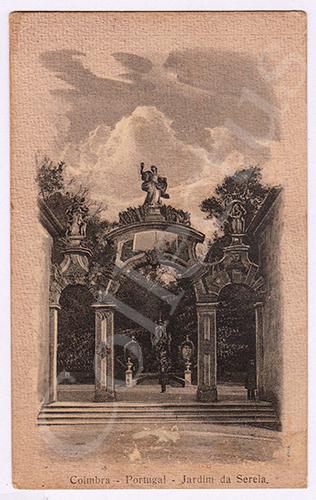 Postal antigo de Coimbra