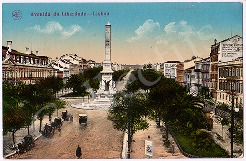 Postal antigo de Lisboa